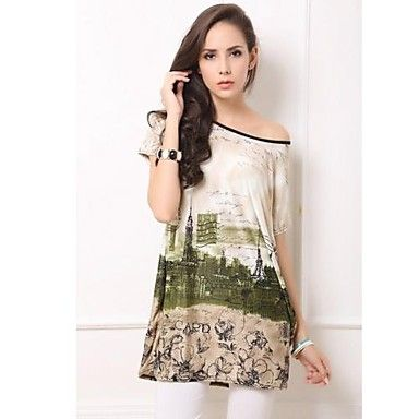 Woman Big Yards Dress with Short Sleeves