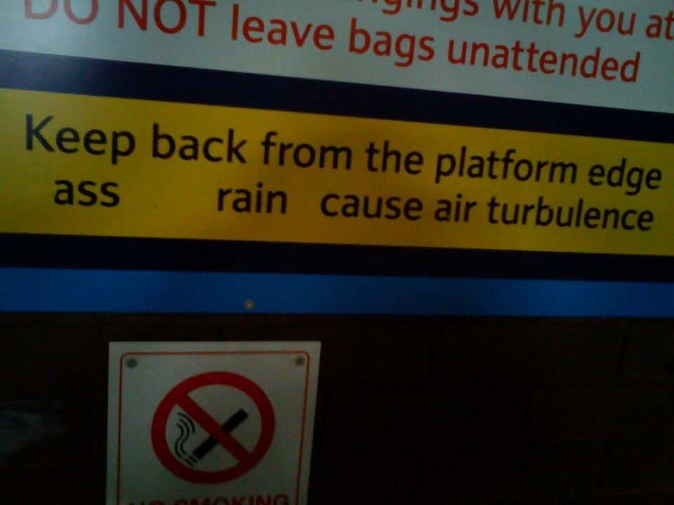 saw this at gatwick railway station