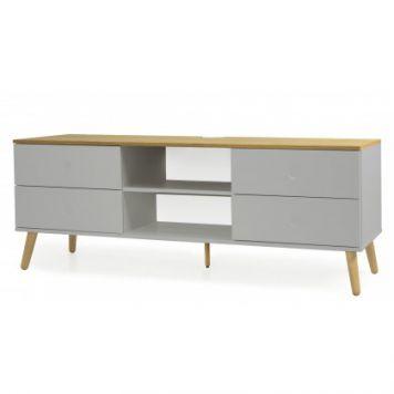 Best Skandinavischer Stil f r dein Wohnzimmer Das TV Board Scandi in Grau