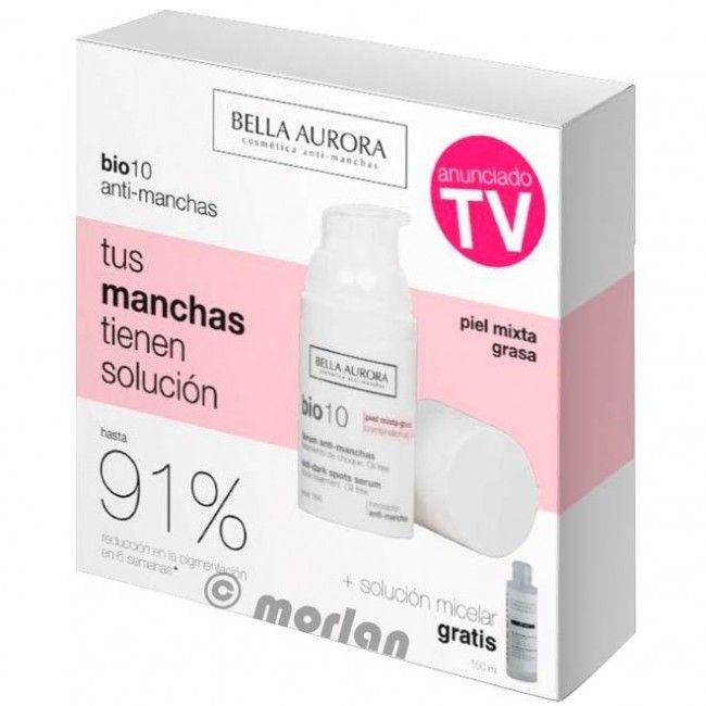 Bella Aurora Bio 10 Serum Anti-Manchas Tratamiento De Choque SPF15 Pieles Mixtas/Grasas, 30ml+ REGALO B Clean Agua Micelar Anti Manchas,150ml