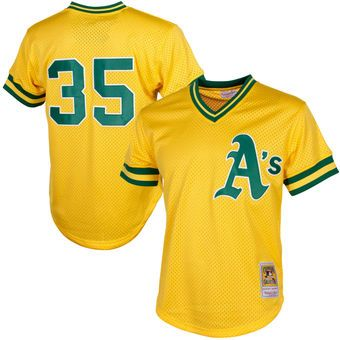 promo code d45d5 6ae0a Mitchell & Ness Rickey Henderson Oakland Athletics Yellow ...