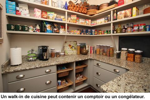 armoires et rangement de cuisine pensez au garde manger walk in id es cuisines pinterest. Black Bedroom Furniture Sets. Home Design Ideas