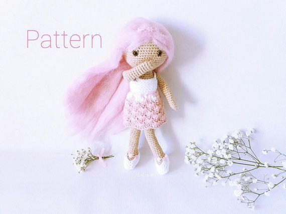 Patrón amigurumi muñeca. Patrón crochet muñeca