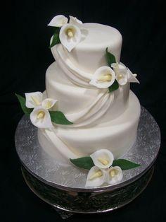 Jumbo Calla Lily Wedding Google Search Wedding Cakes - Wedding Cake With Lilies