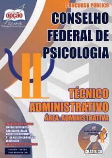 Conselho Federal De Psicologia Cfp Tecnico Administrativo Area