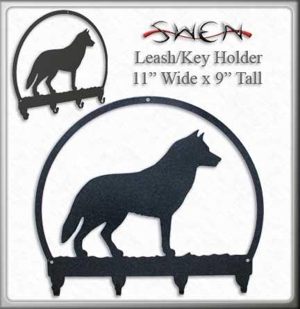 SWEN Products BRITTANY SPANIEL Dog Black Metal Key Chain Holder Hanger