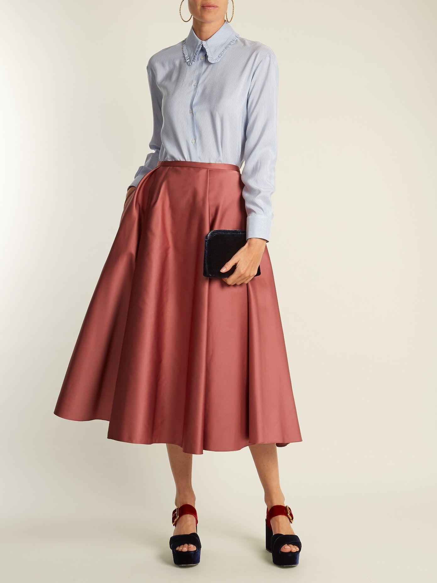 1780b76751 Click here to buy Rochas Pleated duchess-satin midi skirt at  MATCHESFASHION.COM