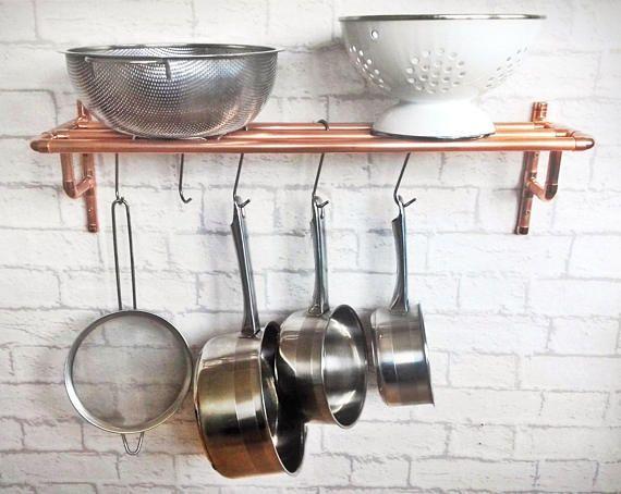 copper pot and pan rack in 2018 my dream kitchen copper pots rh pinterest com