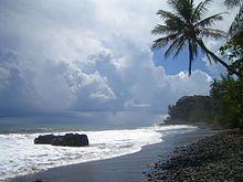 Tahiti and black sand beaches