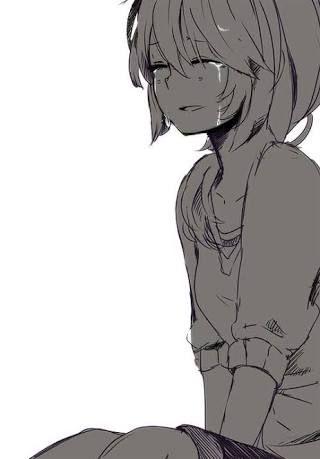 Dibujo Girl Cry Dibujos Tristes Anime Llorando Chica De Anime