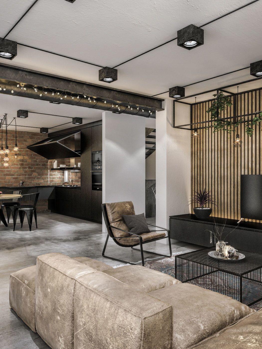 3d model modern loft cgtrader mi casa loft interior design rh pinterest com