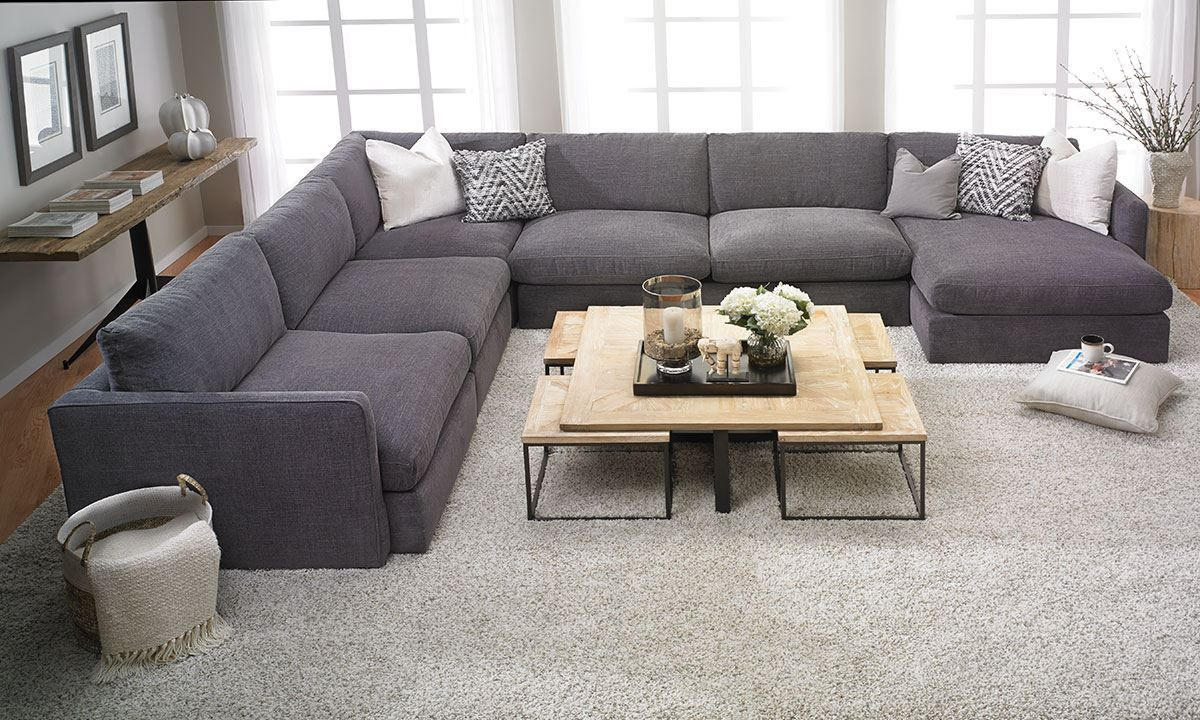 Lincoln Park Handmade Modular Sectional With Left Facing Chaise