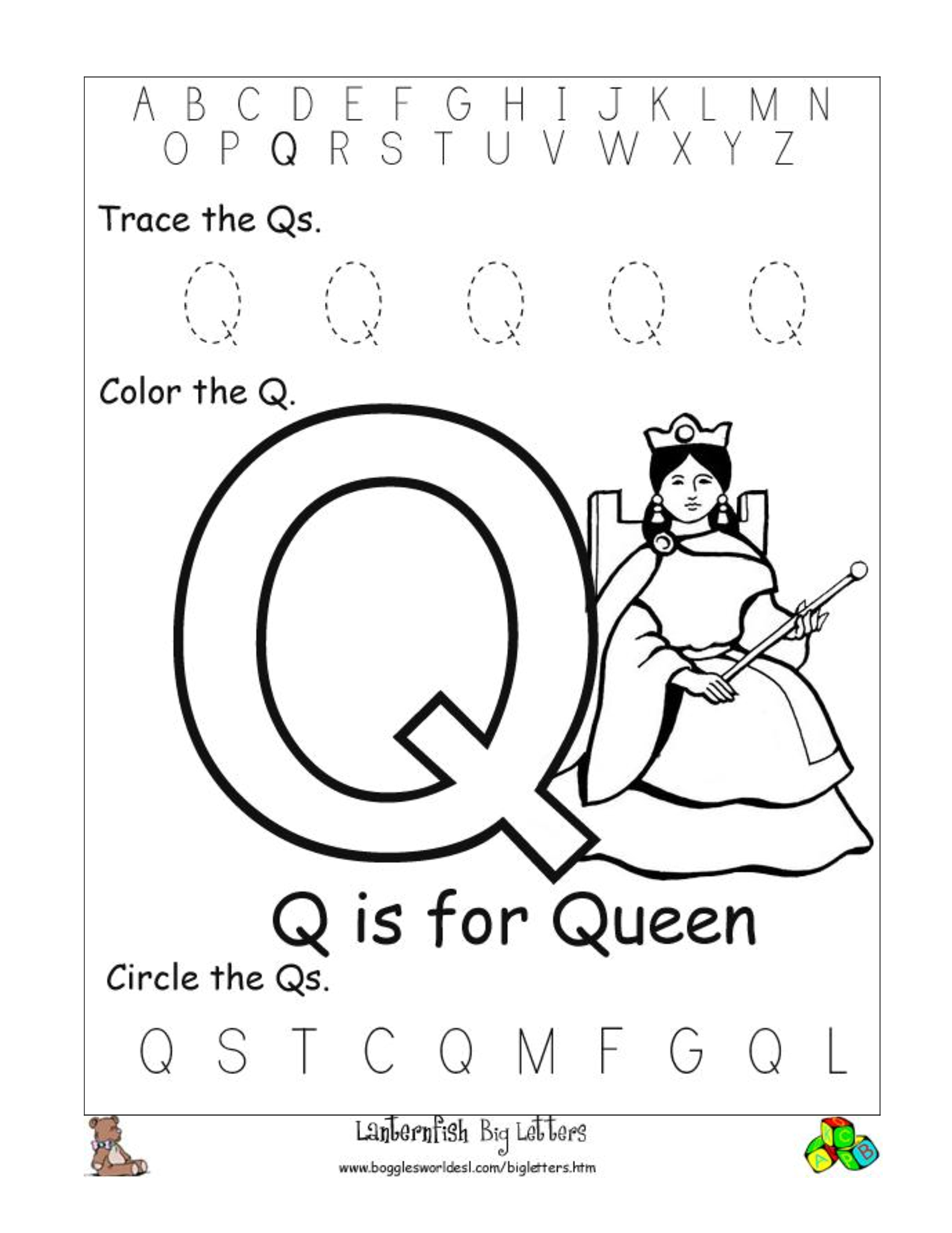 letter q preschool letter q letters of the alphabet