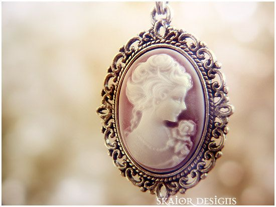 18c2ff8a2 Victorian Lady Portrait Necklace, Gothic Cameo Bridal Jewellery ...