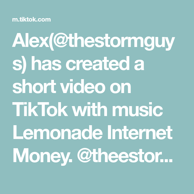 Alex Thestormguys Has Created A Short Video On Tiktok With Music Lemonade Internet Money Theestormman Itschillzz In 2020 Music Hits The Originals Paper Aeroplane