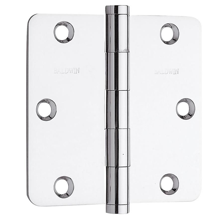 Baldwin Estate 3 1 2 In Chrome 1 4 In Radius Mortise Door Hinge 1435 260 I In 2020 Brass Hinges Hinges