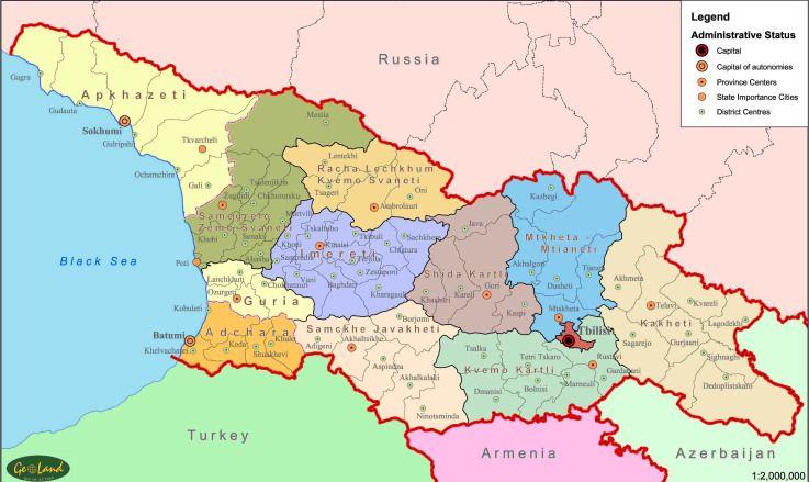 Provinces of Georgia Caucasus Pinterest Georgia Armenia