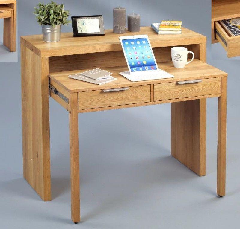 Schreibtisch sekret r wildeiche massiv furniert for Schreibtisch wildeiche