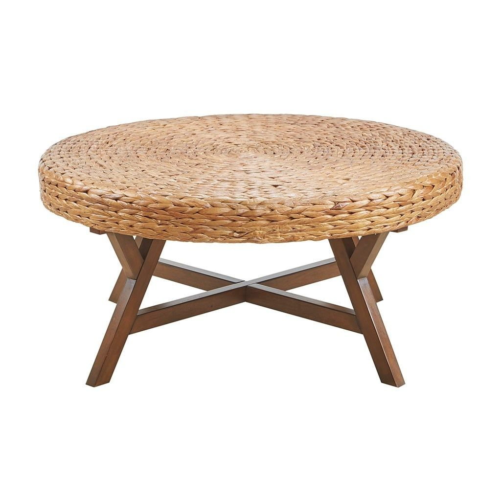 Seadrift Natural Woven Round Coffee Table