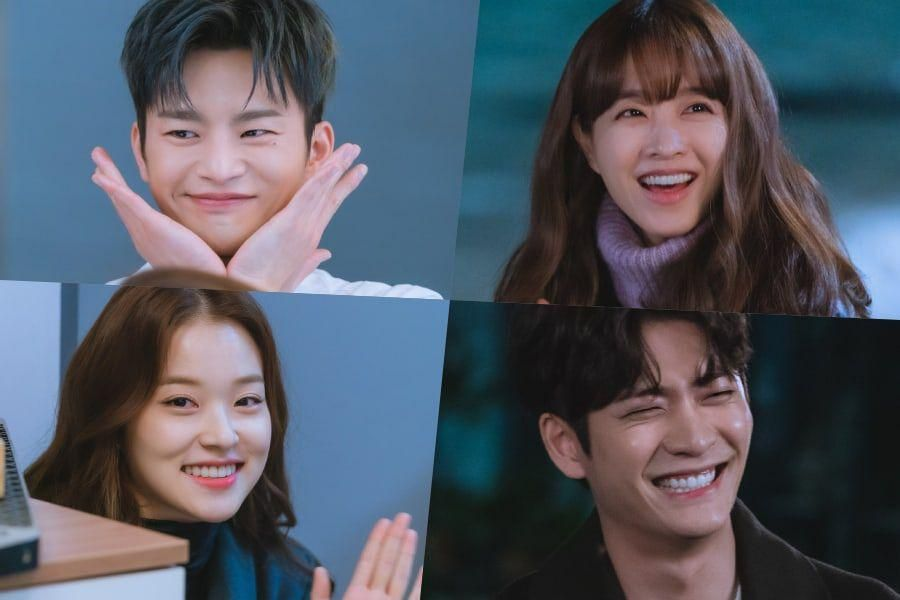 """Seo In Guk, Park Bo Young, And More Are All Smiles Behind The Scenes Of """"Doom At Your Service"""""""