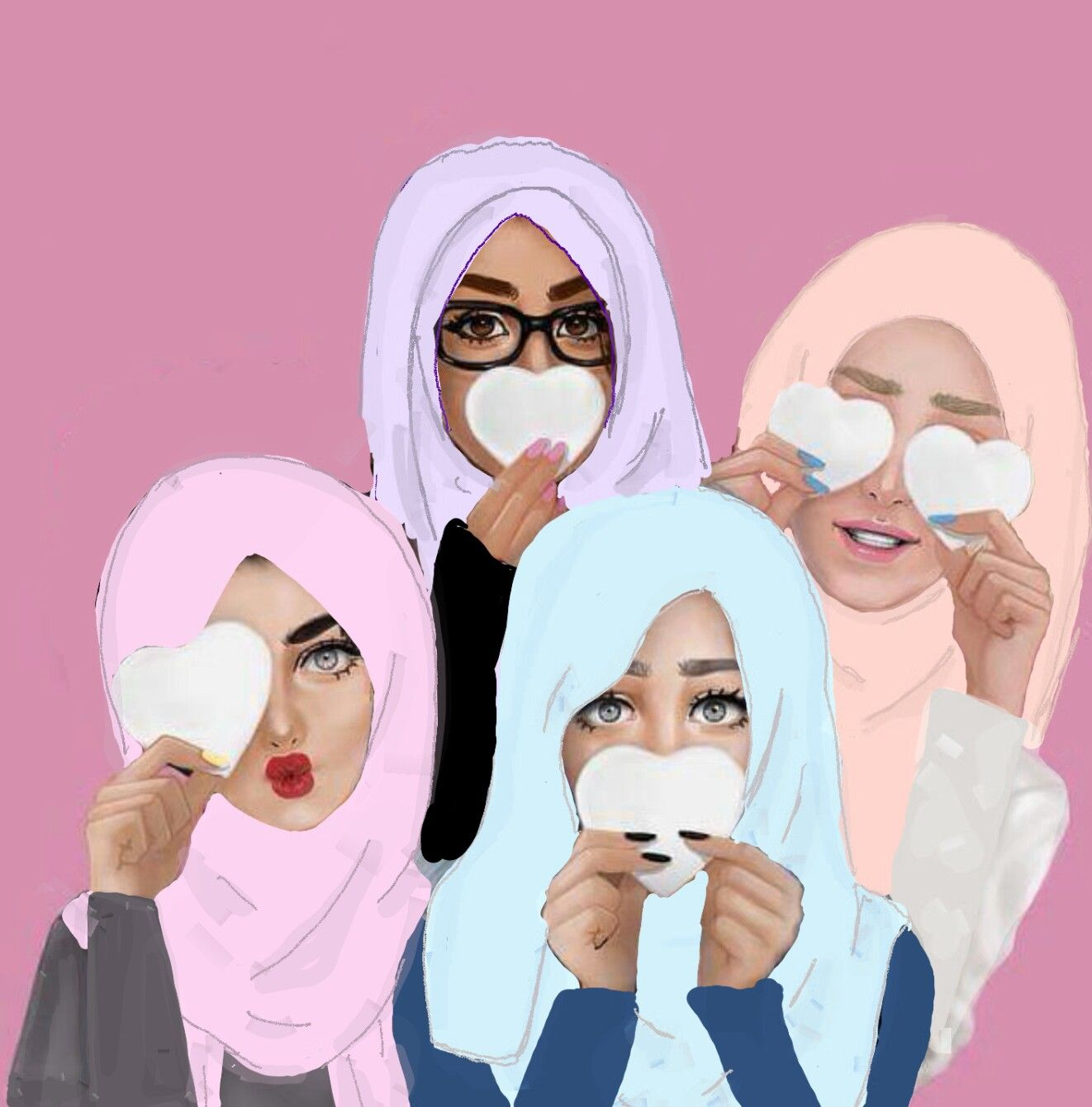 Hijab girls Artworks Pinterest Girls, Illustrations
