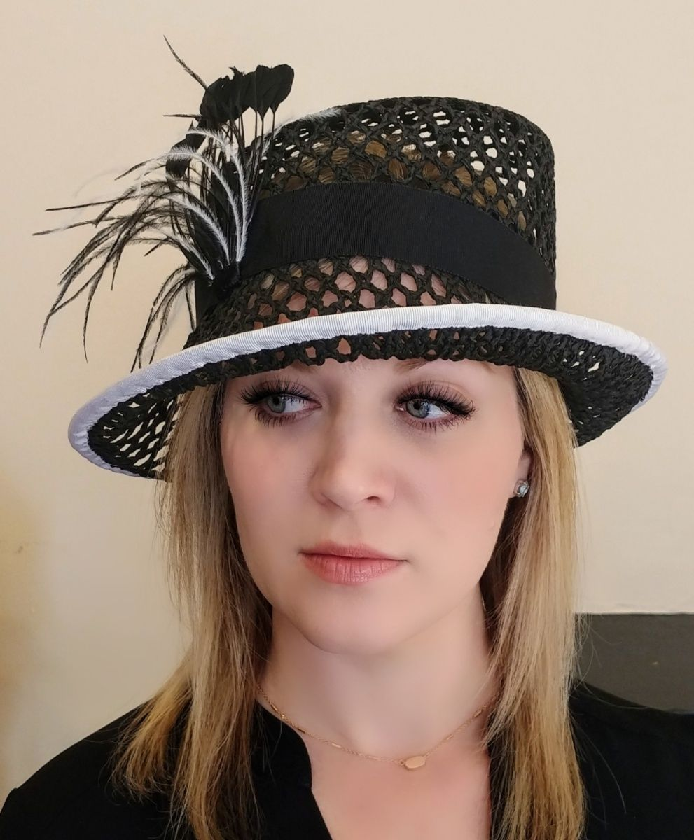 Keeping It Classic With Black And White Perfect For Any Occasion Available At The Forme Millinery Hat Shop 1009 E Main S Millinery Hats Hat Shop Millinery