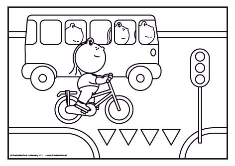 frokkie en lola in het verkeer met afbeeldingen thema