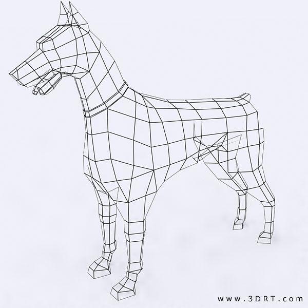 Wire Sculpture Doberman