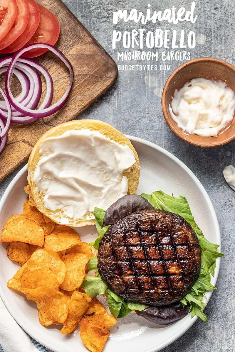 Marinated Portobello Mushroom Burgers - Budget Bytes