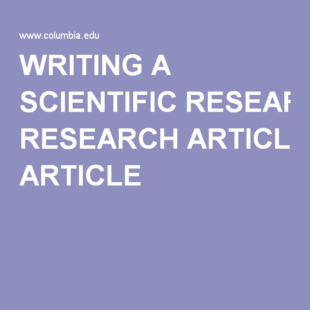 Very Good Guide About How To Write A Journal Paper  Scientific