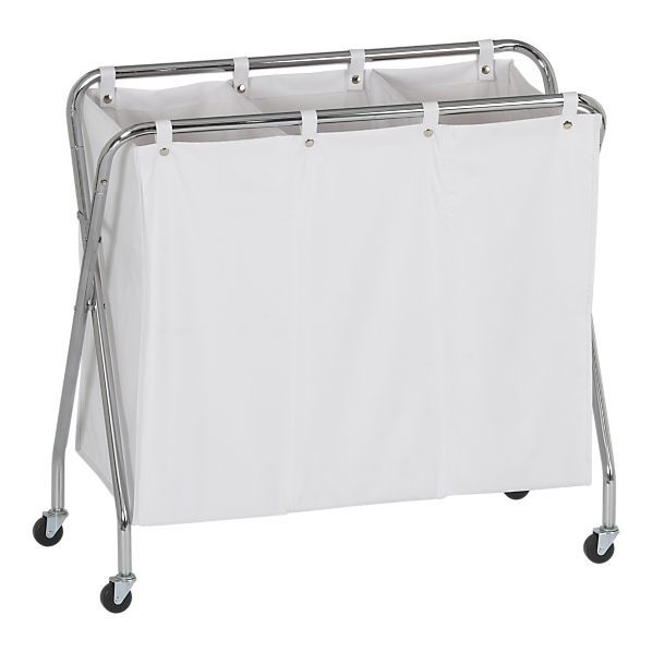Amazon Com Caroeas 22 Rolling Slim Laundry Basket With Stand