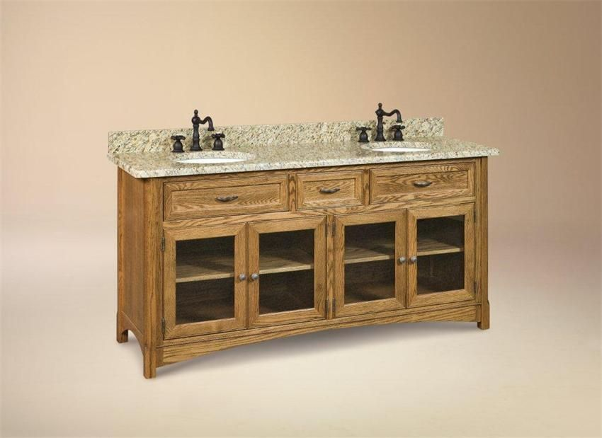 New Amish Bathroom Vanity Cabinets