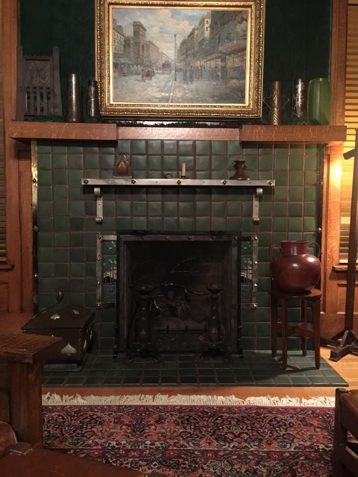 arts and crafts craftsman bungalow interiors fireplace rh pinterest com
