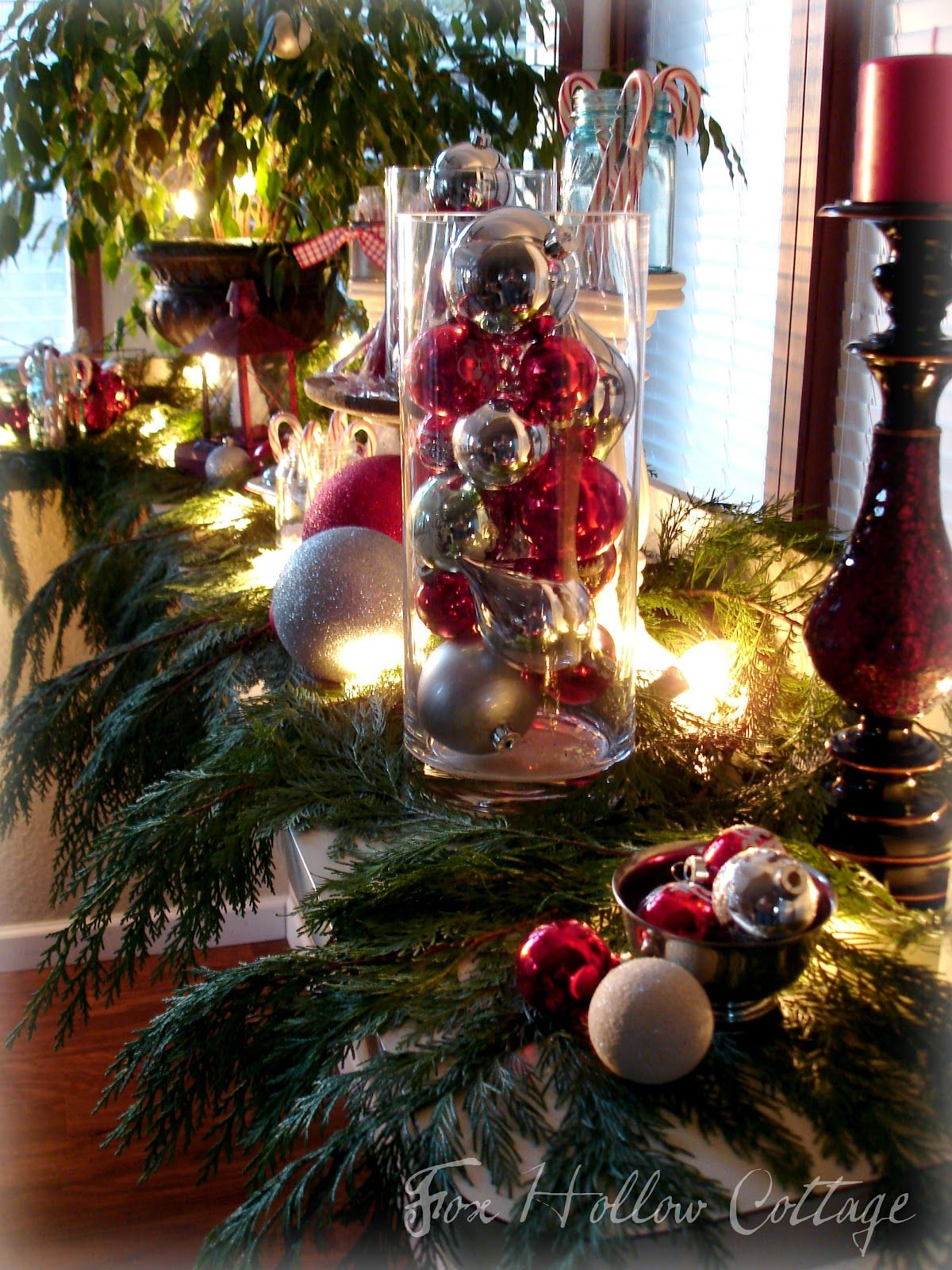 Fox Hollow Cottage: Thrifty Christmas Decorating With Cedar Boughs