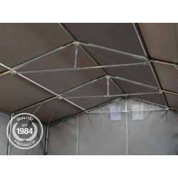 Zelthalle 5x10m Pvc 550 g/m² grau wasserdicht Industriezelt Toolport