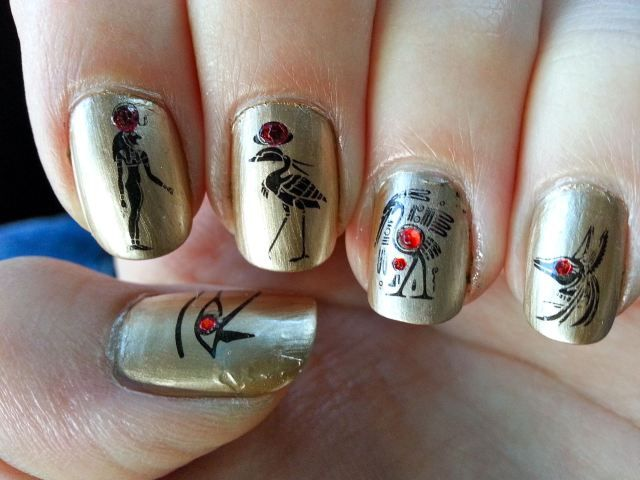 Egypt Nail Art See You At Httpunghieperpassionewordpress