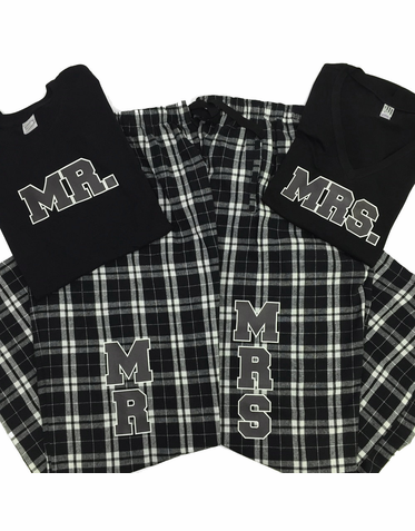 9efd37123f Mr and Mrs Pajamas - His and Her Plaid Flannel PJ Set | wedding ...