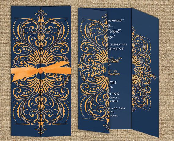 Indian Wedding Invitation The Agra Collection Gatefold