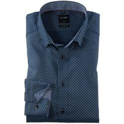 Non-iron shirts for men -  Olymp Luxor shirt, modern fit, under-button-down, navy, 39 Olympus  - #Ea...