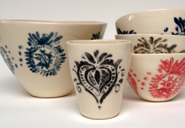 A La Carte classes by Diana Fayt on Creativebug. Stamped Ceramics