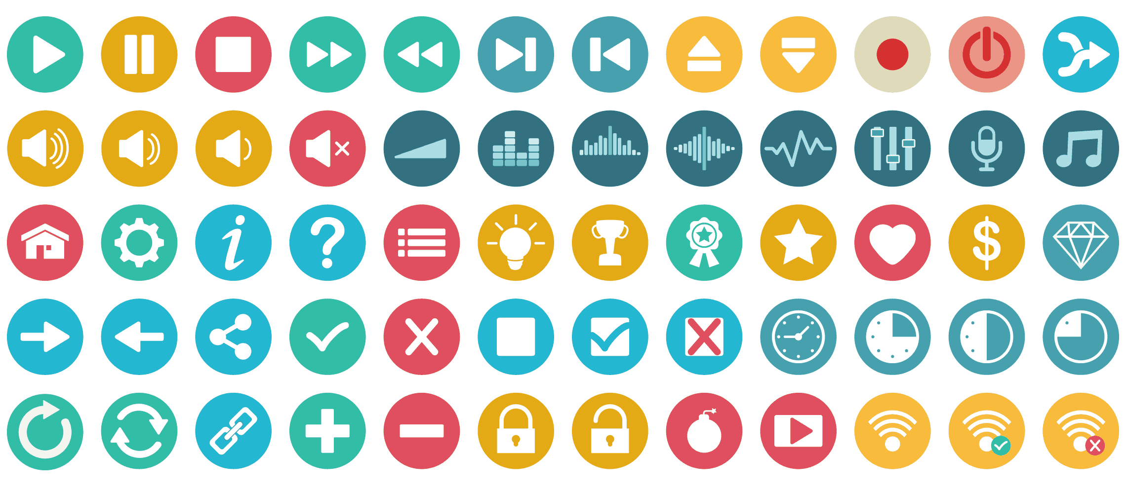 2500 Flat Icons Vector Set Royalty Free Flat Icon Icon All Icon