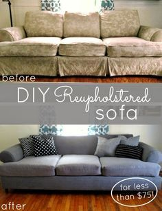 diy couch reupholster with a painter s drop cloth part 1 the rh pinterest com
