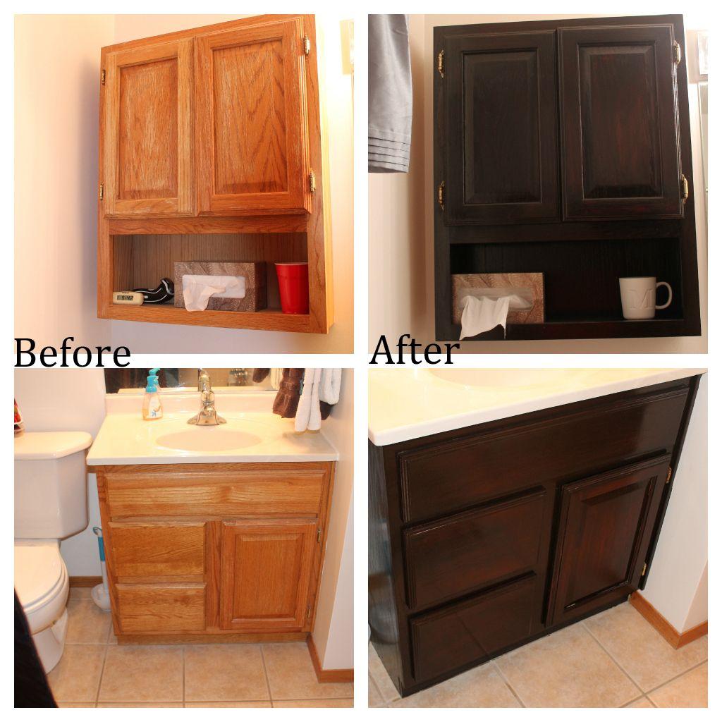 Staining Oak Bathroom Cabinets Oak Bathroom Cabinets Oak Bathroom Staining Cabinets