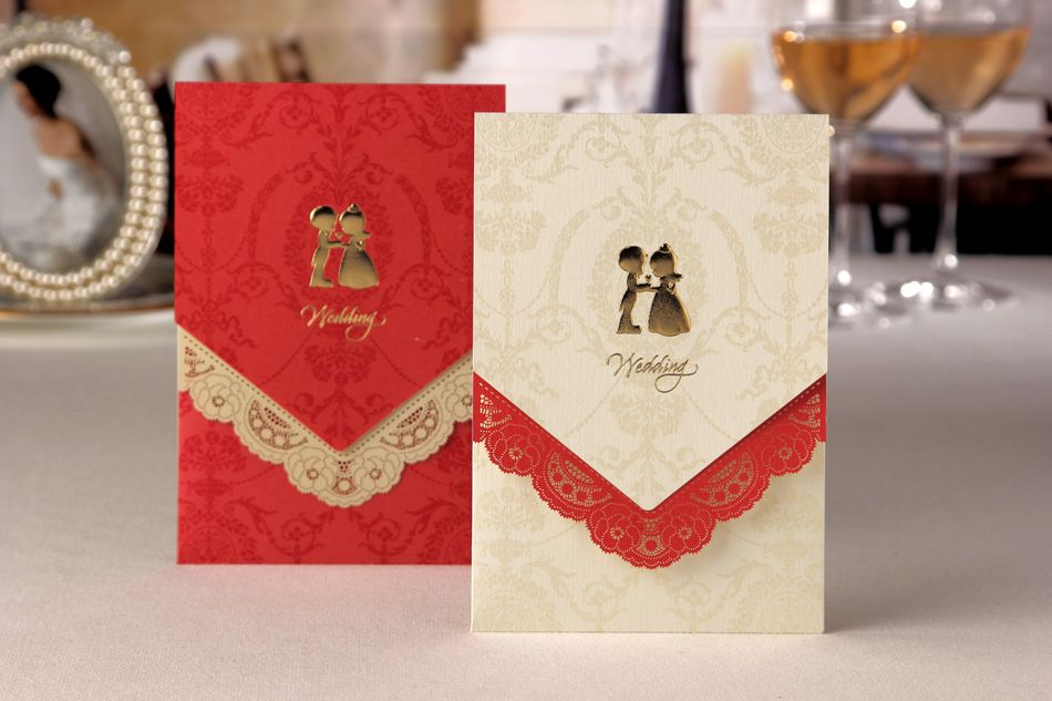 free wedding borders for invitations%0A Elegant Wedding Invitation With Lasercut Floral Border  Set of     More  Colors