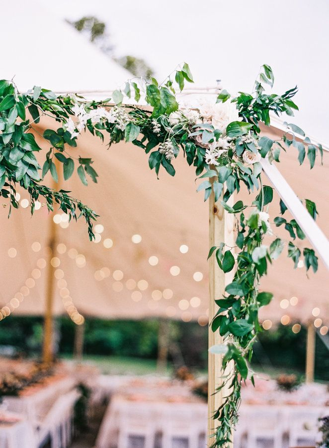 Elegant + floral-filled tented reception: http://www.stylemepretty.com/2015/12/29/elegant-floral-filled-yew-dell-gardens-wedding/ | Photography: Natalie Watson - http://www.nataliewatsonphotography.com/