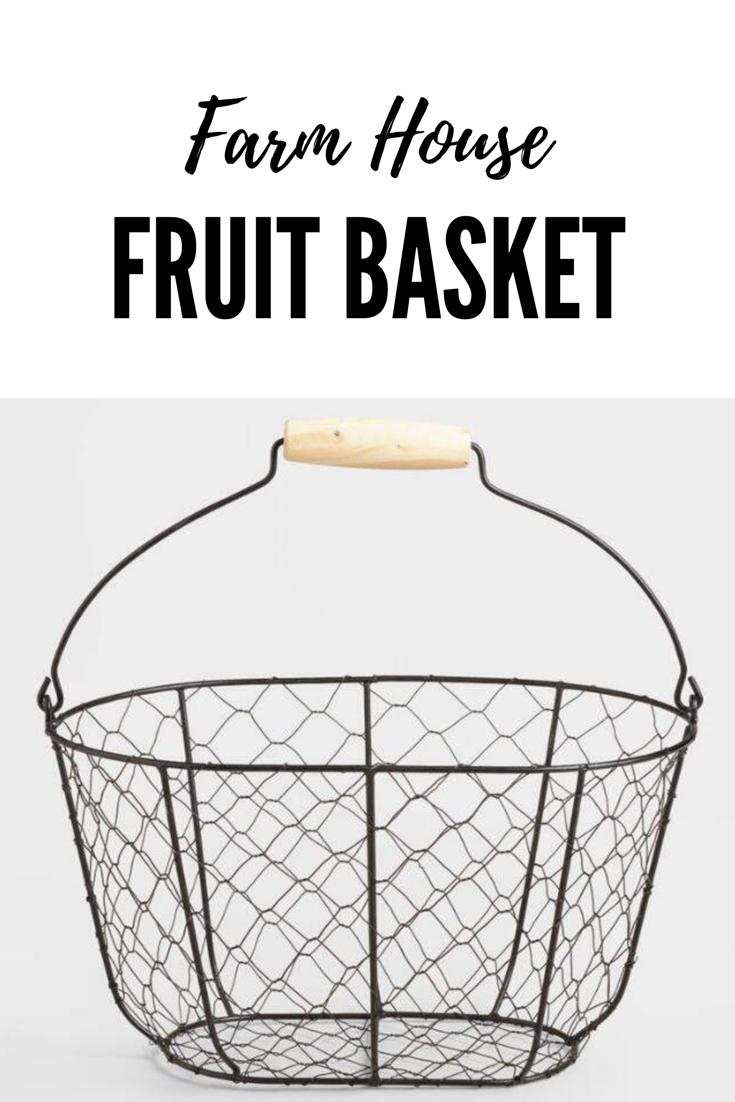 Rustic wire farm house basket. #wire #basket #farmhousedecor #decor ...