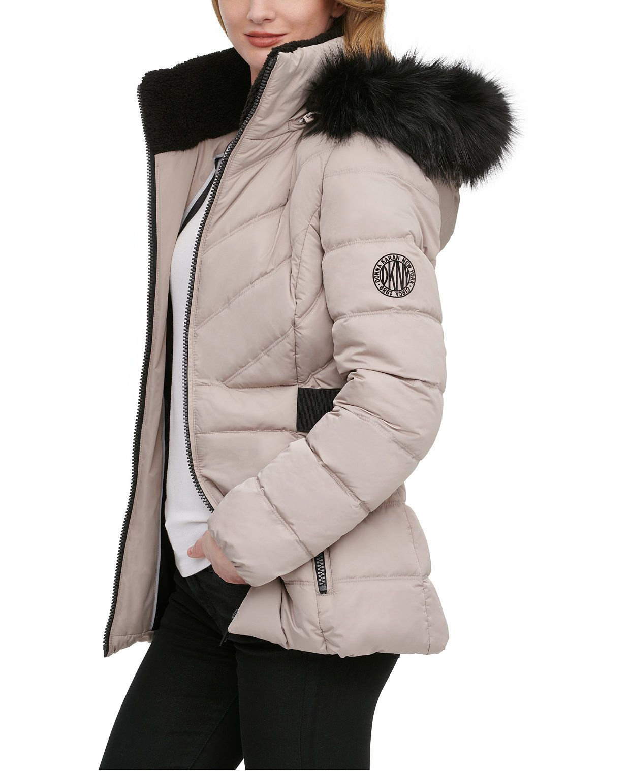 Dkny Faux Fur Trim Hooded Puffer Coat Reviews Coats Women Macy S In 2021 Puffer Coat Fur Trim Coats For Women [ 1518 x 1242 Pixel ]