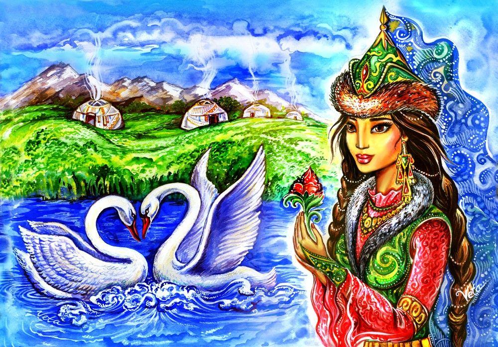 Красивые открытки на казахском