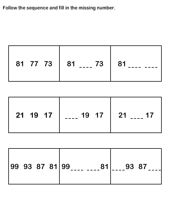 Number Sequence Worksheetsmath Worksheets Kindergarten Worksheets