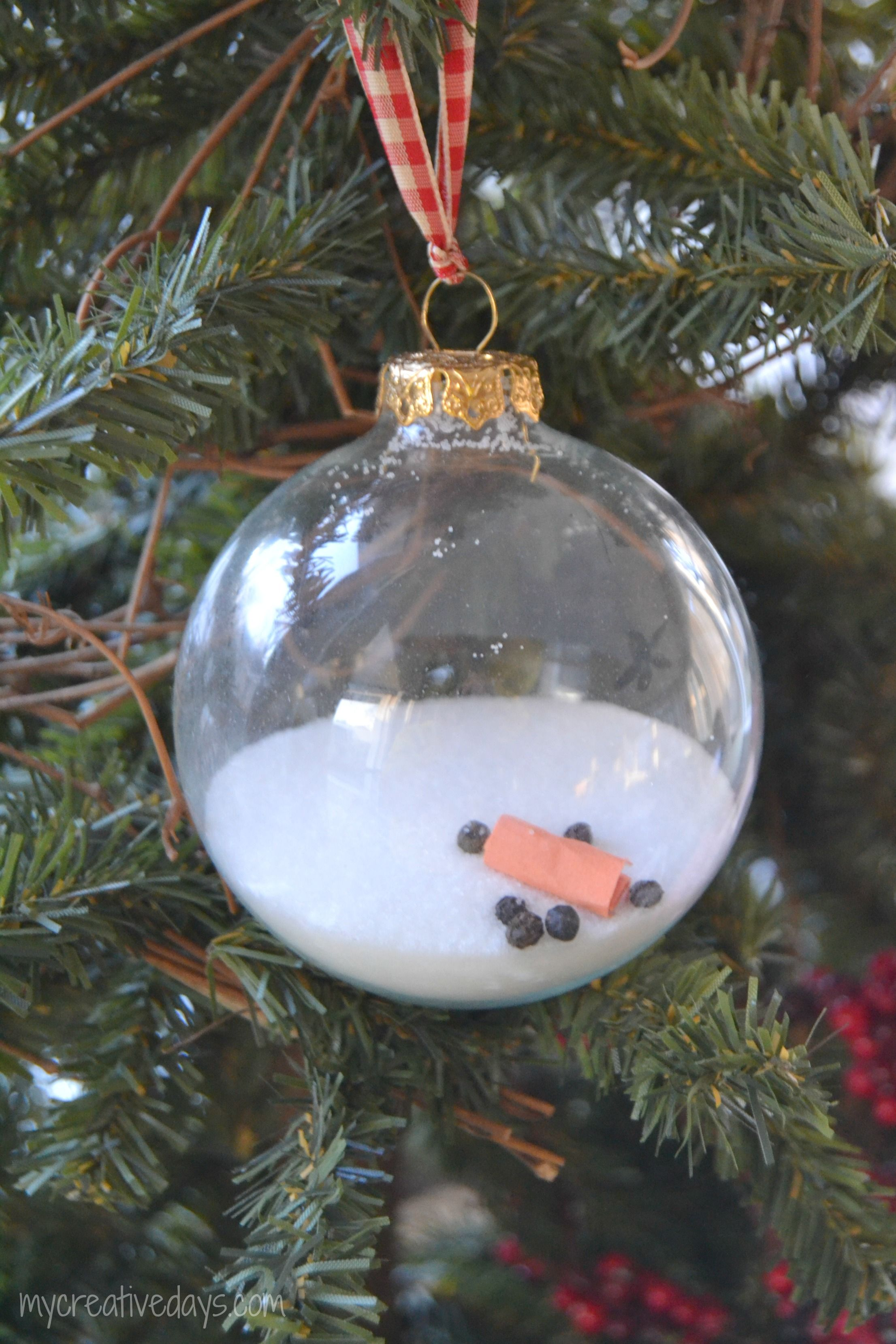 Craft Homemade Christmas Melted Snowman Ornament